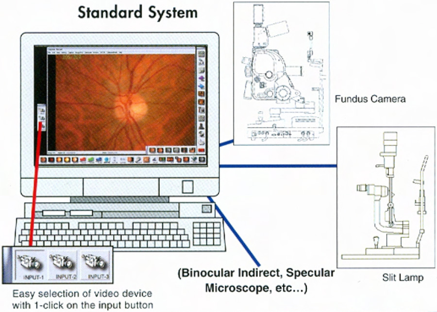 3 instruments are input in 1 imaging system