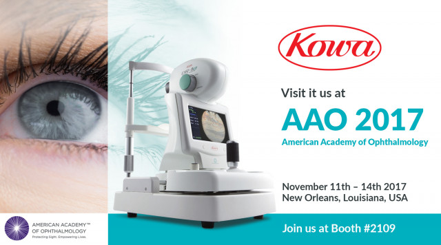 Kowa exhibits at AAO 2017